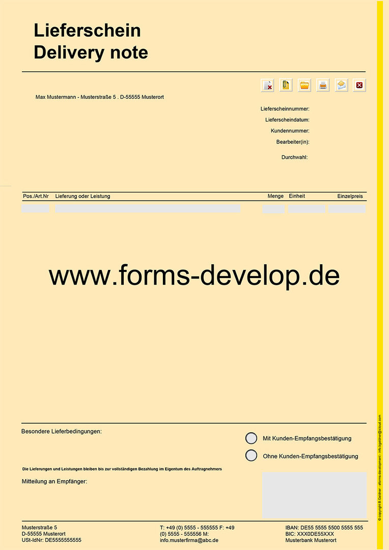 lieferscheine mit warenwert pdf formular a4h. Black Bedroom Furniture Sets. Home Design Ideas