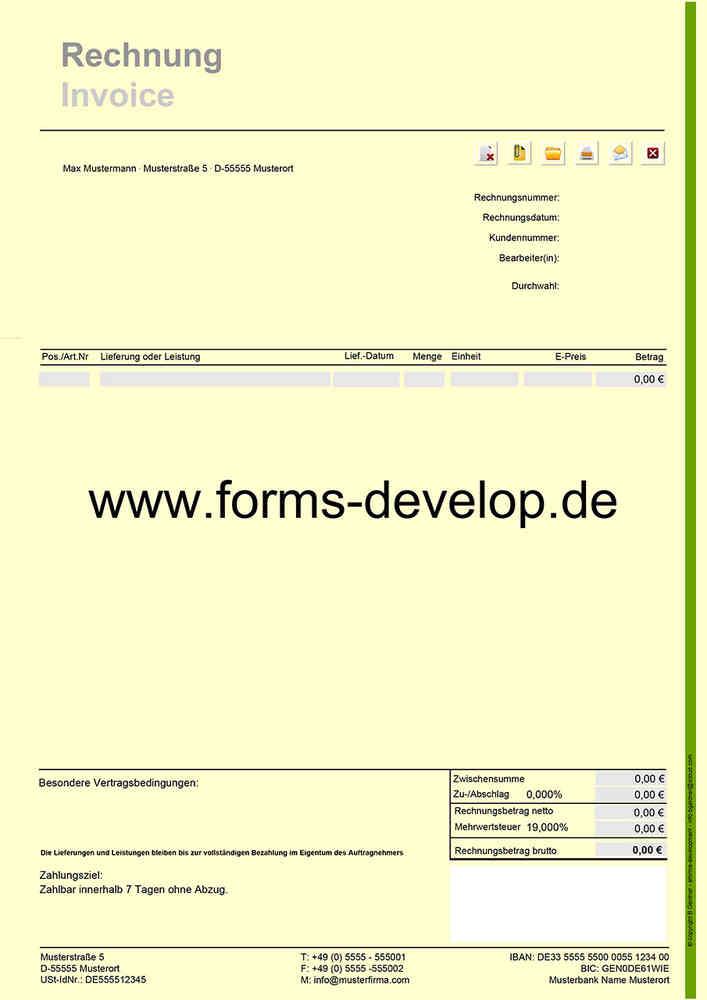 Rechnung Fakturierung Pdf Formular A4h Standard Aktionsware